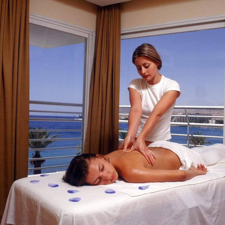 A pampering massage with a breathtaking view of the word spa